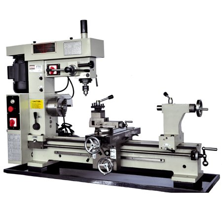 BOLTON TOOLS 16' x 30' Combo Metal Lathe With Mill Drill. Runs On 2 Separate Motors. Distance between centers: 31 1/2'. Swing over bed: 16 1/2. Spindle hole diameter:1-1/10