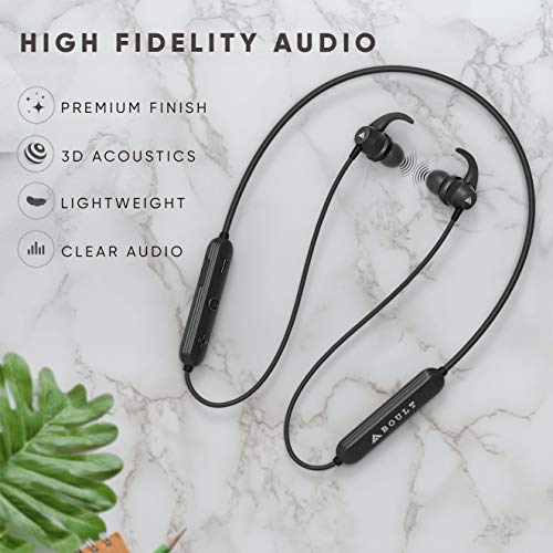 41DlrXQwmgL Boult Audio ProBass X1-WL in-Ear Wi-fi Earphones with eight Hours Battery Life, Newest Bluetooth 5.0, IPX5 Sweatproof Headphones with mic (Black)