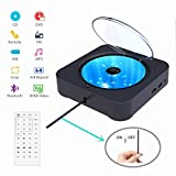 Alice Dreams Portable CD Player, DVD Players for TV, Wall CD DVD Player with Boombox Bluetooth, USB Port, 1080P HDMI, FM Radio and AV Jack, Linked Phone, Music for Yoga, Unborn Bady, Party, Black