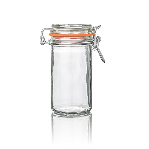 Nostalgic Clamp Lid Glass Mason Jar 3.4 ounces 10 count box