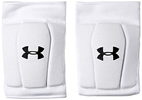 Under Armour unisex-adult Armour 2.0 Volleyball Knee Pad White (100)/Black Medium