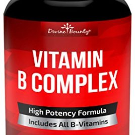 Super B Complex Vitamins – ALL B Vitamins Including B12, B1, B2, B3, B5, B6, B7, B9, Folic Acid – Vitamin B Complex Supplement for Stress, Energy and Healthy Immune System – 90 Vegetarian Capsules
