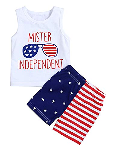 Xmas gift 4th of July Baby Outfits Newborn Baby American Flag Sleeveless Tank Tops Stripes US Flag Shorts Pant Independence Day Short Pant Outfit