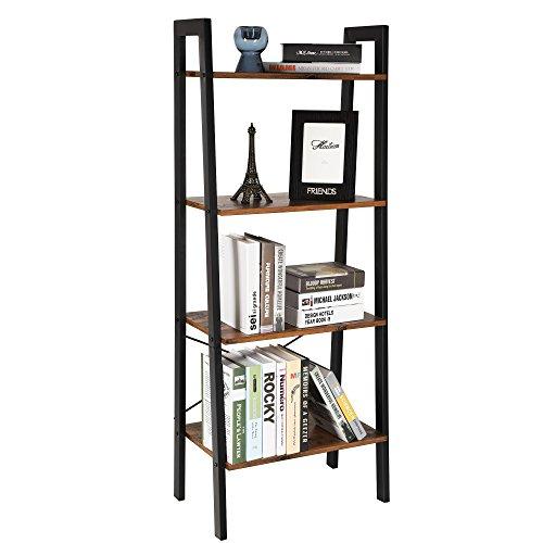 new style 34ae9 54828 SONGMICS 4-Tier Ladder Shelf Bookcase Garden Bathroom Storage Vintage  ULLS44X