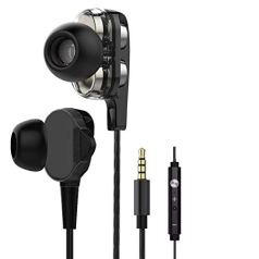 ShopsGeniune in-Ear Headphones R30 Earphones for Samsung Galaxy M31 Earphone Like Wired Stereo Deep Bass Hands-Free Headset Earbud with Built in-line Mic, Calling 3.5mm Audio Jack