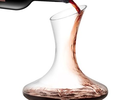 JoyJolt Lancia Wine Decanter Lead-free Crystal 100% Hand Blown Wine Aerator, Glass Red Wine Carafe 54oz, Red Wine