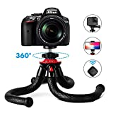 Fotopro UFO2 Set Tripods for Phone,12' Flexible Tripod with Bluetooth for iPhone Xs, Samsung, Waterproof Tripod for Time-Lapse Photography, 360 Degree Spherical Tripod for GoPro, Black