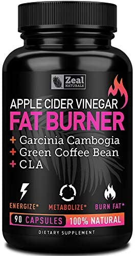 Apple Cider Vinegar Weight Loss Pills for Women - Garcinia Cambogia + Apple Cider Vinegar Pills for Weight Loss w. CLA & Green Coffee Bean Green Tea Fat Burner Pills - Detox Cleanse Weight Loss Pills 3
