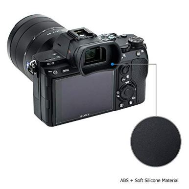 Soft-Silicon-Camera-Viewfinder-Eyecup-Eyepiece-Eyeshade-for-Sony-A7RIV-A7RIII-A7III-A7RII-A7SII-A7II-A7R-A7S-A7-Mark-III-II-A9-A9II-A58-A99II-Eye-Cup-Protector-replaces-Sony-FDA-EP18-FDA-EP16-FDA-EP15