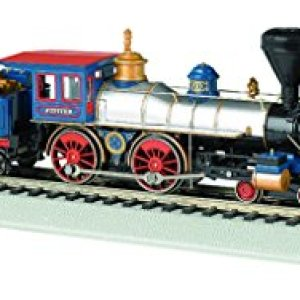 Bachmann Industries 4-4-0 American Steam DCC Central Pacific #60 Jupiter Wood Load Locomotive (HO Scale) 41E0zHDqz L