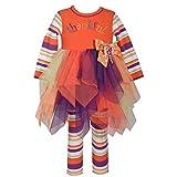 Bonnie Jean Girls' Toddler Appliqued Tutu Playwear Set, Thankful, 4T