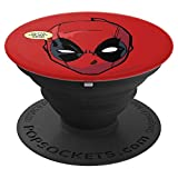 Marvel Deadpool Mask Outta The Way Nerd - PopSockets Grip and Stand for Phones and Tablets