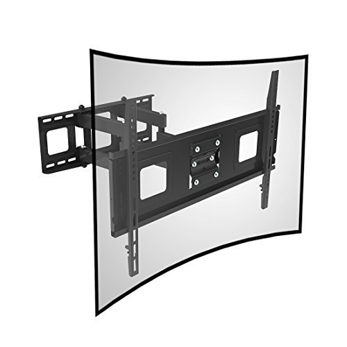 Fleximounts Curved TV Wall Mount Bracket for 32-65 inch Curved TV with Max 600x400mm Wall Mount Plate VESA Size