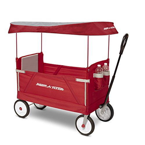 Radio Flyer 3-In-1 EZ Folding Wagon with Canopy for kids