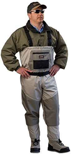 Caddis Men's Attractive 2-Tone Tauped Deluxe Breathable Stocking Foot Wader, X-Large Short Stout(DOES NOT INCLUDE BOOTS)