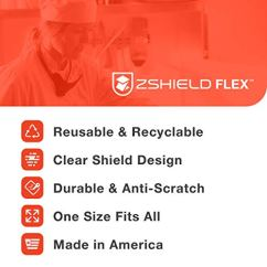 ZShield-Flex-Reusable-Face-Shield-wFull-Face-Clear-Lens-Lightweight-Neck-Mount-Design-Wide-Coverage-Made-in-USA-1-Pack