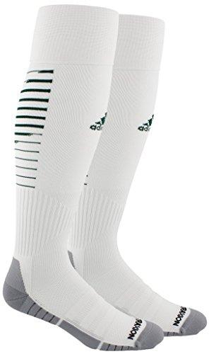 adidas Standard Team Speed Ii Soccer OTC Sock, white/collegiate green/light Onix, 5-8.5