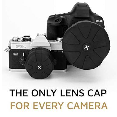 KUVRD-Universal-Lens-Cap-20-Fits-99-DSLR-Lenses-Element-Proof-Lifetime-Coverage-Magnum-2-Pack