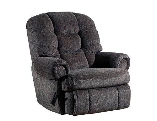 Lane Stallion Big Man Comfort King Wallsaver Recliner in Gladiator Cafe. Made for The Big Guy Or Gal. Rated for Up to 500 Lbs. Extended Length. 79 Inches. Seat Width. 25 Inches. 4501