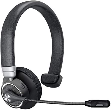 Bluetooth Headset Angteela Truker Bluetooth Headset With Microphone Wireless Headset 5 0 With Mute Button 24 Hours Working Time For Cell Phone And Laptop On Business Office Bh M91
