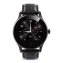 K88H Smart Watch Orologio Intelligente Pedometro Frequenza Cardiaca Chiamata/SMS Reminder Monitor di Sonno Nero