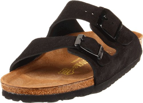 Birkenstock Unisex Arizona Black Suede Sandals - 35 N EU / 4-4.5 2A(N) US