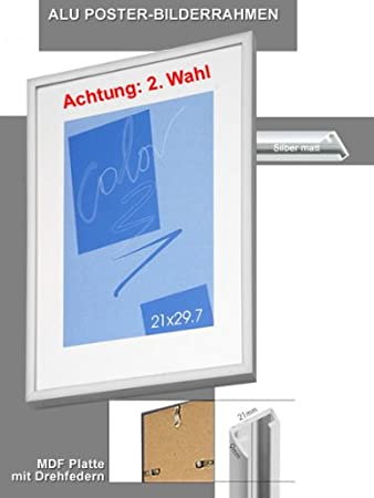 2 Wahl Edler Alu Bilderrahmen 70x100 Cm Silber Matt