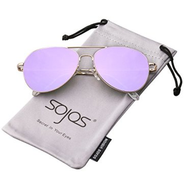 Image result for SojoS Classic Aviator Mirrored Flat Lens Sunglasses Metal Frame with Spring Hinges SJ1030