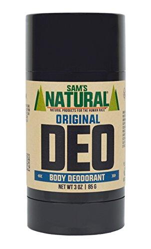 Sam's Natural Deodorant Stick - Original, Aluminum Free, Vegan, Cruelty Free, 3 oz