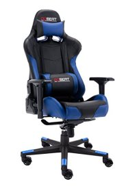OPSEAT Master Series 2018 PC Gaming Chair Racing Seat Computer Gaming Desk Office Chair - Blue