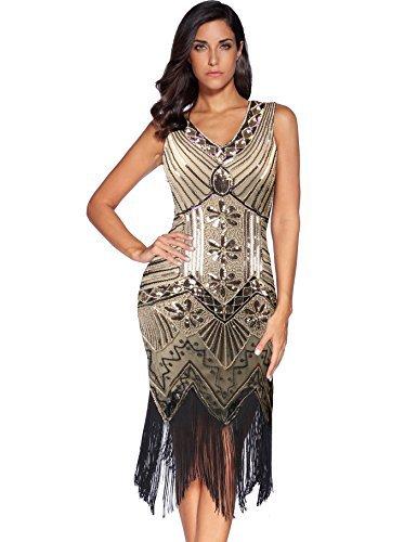 Meilun 1920s Sequined Inspired Beaded Gatsby Flapper Evening Dress ...