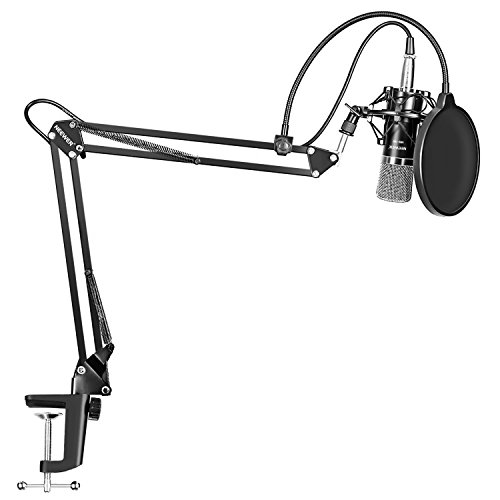 Neewer-NW-700-Professional-Studio-Broadcasting-Recording-Condenser-Microphone-NW-35-Adjustable-Recording-Microphone-Suspension-Scissor-Arm-Stand-with-Shock-Mount-and-Mounting-Clamp-Kit