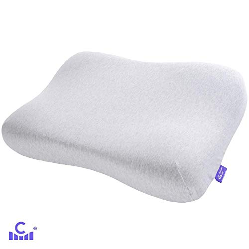 Cushion Lab Extra Dense Gel-Infused Memory Foam Contour Pillow for Neck Pain Relief - Ergonomic Cervical Pillow for Back & Side Sleepers, Firm Neck Support, CertiPUR US