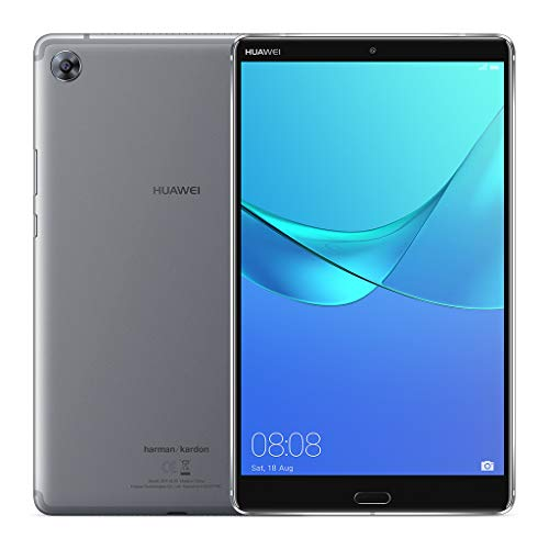 """HUAWEI MediaPad M5 8 – 8.4″"""" Android 8.0 Tablet, 2K IPS Display with Eye-Comfort Mode, 32GB, 13MP Rear Camera, Quad Stereo Speakers Tuned by Harman Kardon, 5100mAh, Children's Corner, Grey"""