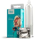 Hollywood Condoms Love Performance The Diva Premium, Natural Latex Lubricated Condom for Men, Women, 12 Condoms