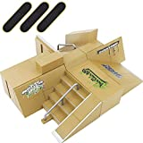 HEHALI 8pcs Professional Skate Park Kit Ramp for Mini Fingerboards Finger Skateboard