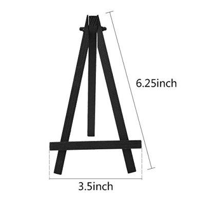 eBoot-12-Pieces-625-Inch-Mini-Wood-Display-Easel-Black