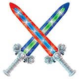 Geospace Geosword Soft & Safe Dueling Sword with LED Lights & Movement Battle Sounds, 2-pack, Assorted Colors (Blue or Red)