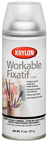 Krylon Workable Fixatif Clear Spray (11 oz)