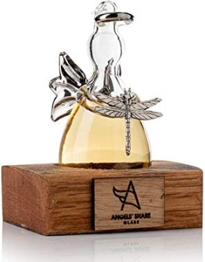 Angels' Share Glass Outlander Inspired Hand Blown Glass Whisky Angel Gift Ornament