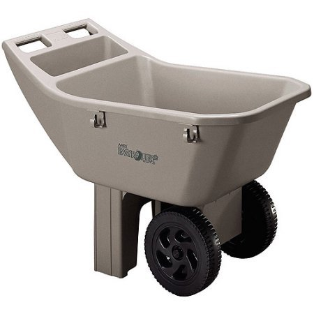 Ames 2463675 3 Cubic Feet Easy Roller Jr. Lawn Cart Gardening Wagons & Wheelbarrows