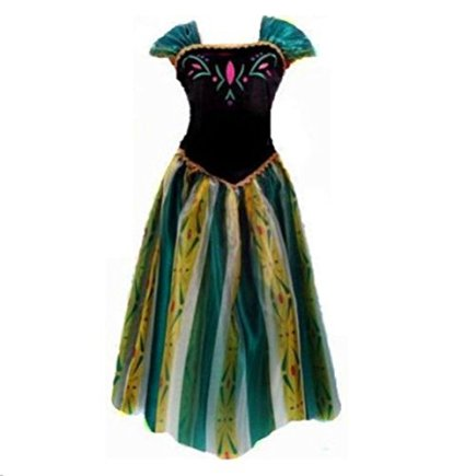 kuisen-Princess-Costume-Ault-Women-Anna-Elsa-Coronation-Dress-Costume-L-Size-fit-for-US-8-12