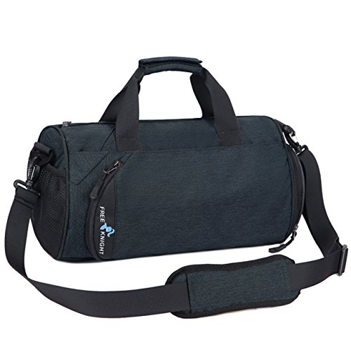 91a27a124c58 Faleto Canvas Sport Duffel Bag Gym Tote Bag with Shoe Compartment ...