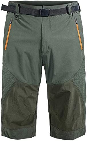 Vcansion Men's Outdoor Quick Dry Hiking Cargo Capri Shorts Summer 3/4 Pants 1