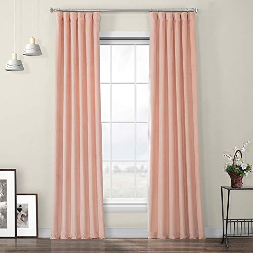 Plush Velvet Peach Blossom Curtains