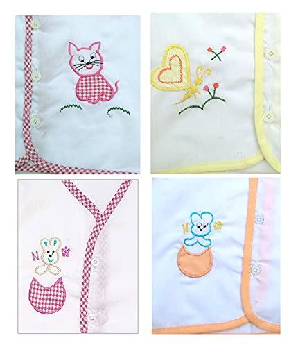 41Evm1dE7bS KIDSKA® New child Child Cotton Jhabla New child Child Costume for Child (zero To six Months)