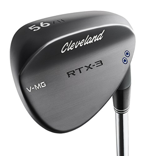 Cleveland Golf Men's RTX-3 Wedge, Right Hand, Steel, 52 Degree, Black Satin