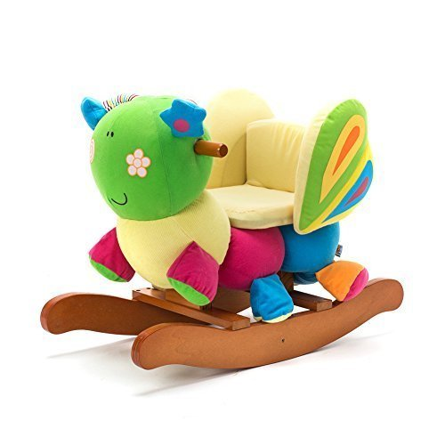 Rocking Toys For Boys : Labebe wooden rocking horse for toddlers boys girls