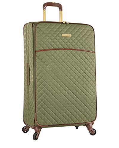 Anne Klein 29' Expandable Softside Spinner Luggage, Olive Quilted