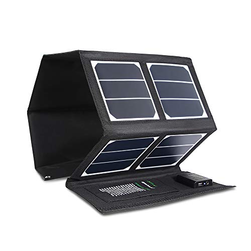 Kingsolar Solar Charger 40W Portable Solar Panel Charger with 5V USB 18V DC Dual Output Waterproof Foldable Camping Travel Charger for Laptop Tablet GPS iPhone iPad Camera Other 5-18V Device